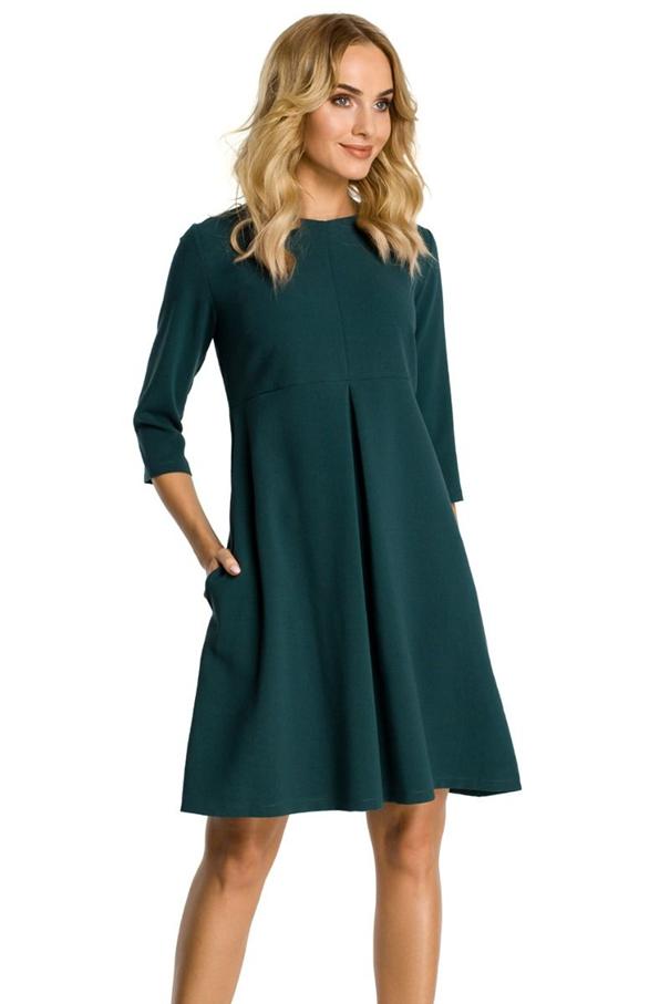 Tmavozelené šaty