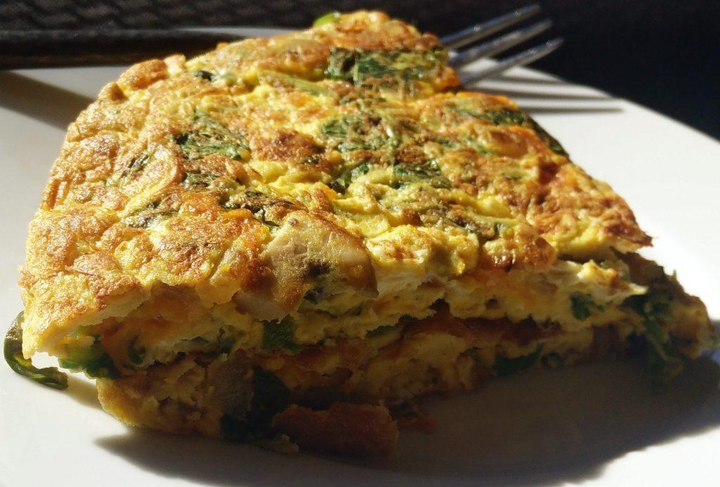 Syrová omeleta s hráškom