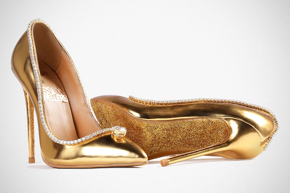 Druhé najdrahšie topánky na svete, diamantové, zlaté heels od Jada Dubai, UAE, prepychové lodičky.